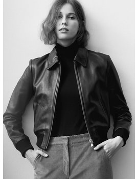 Lou Leather Jacket by Babaton