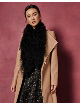 Mongolian Shearling Scarf by Ted Baker