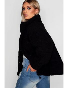 Plus Oversized Fleece Puffer Jacket by Boohoo
