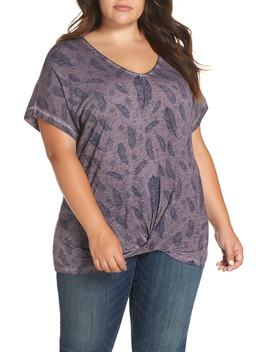 Twist Hem V Neck Tee by Dantelle