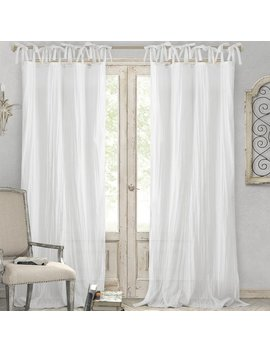 Lark Manor Hippolyte Solid Semi Sheer Tab Top Single Curtain Panel & Reviews by Lark Manor
