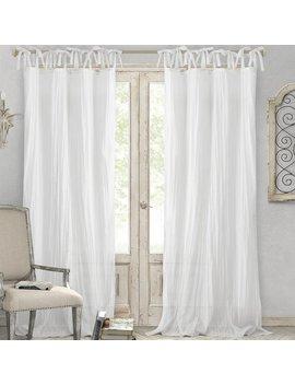 Lark Manor Hippolyte Solid Semi Sheer Tab Top Single Curtain Panel & Reviews by Lark Manor