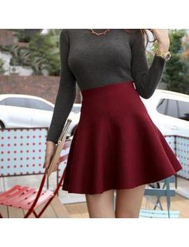 Anzoveve   High Waist Knit Skater Skirt by Anzoveve
