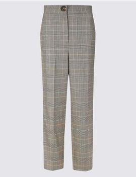 Checked Side Stripe Tapered Leg Trousers by Marks & Spencer