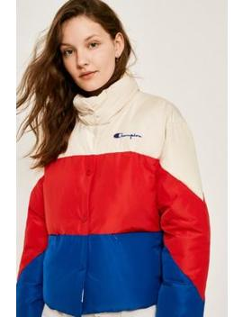 Champion Colour Block Quilted Puffer Jacket by Champion