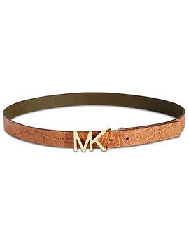 Croc Embossed Reversible Belt by Michael Michael Kors