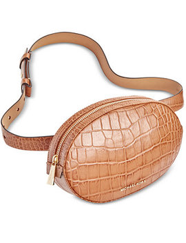 Croc Embossed Leather Fanny Pack by Michael Michael Kors