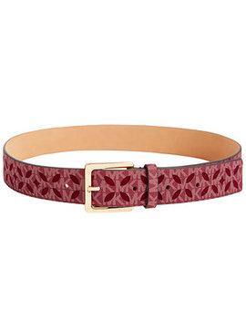 Signature Diamond Perforated Belt by Michael Michael Kors