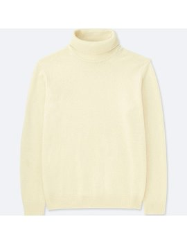 Men Premium Lambswool Turtle Neck Long Sleeve Sweater by Uniqlo