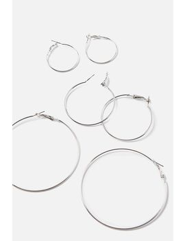 Trio Hoop Earring Pack by Cotton On