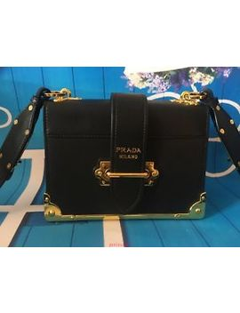 Authentic Prada Cahier Notebook Leather Shoulder Designer Bag by Prada