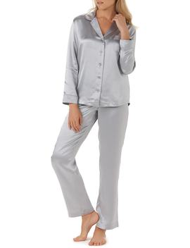 Piped Silk Pajamas by The White Company