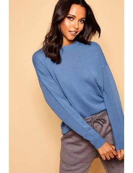 Pull Ras Du Cou Coupe Carrée by Boohoo