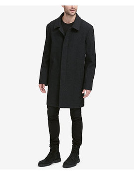 Men's Classic Tumbled Coat With Hidden Placket by Cole Haan