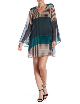 Long Sleeve Stripe Dress by Eci