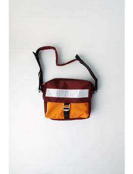 Messenger Bag Burgundy by Acne Studios