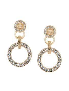 Versacecrystal Embellished Medusa Earringshome Women Versace Jewelry Earrings by Versace
