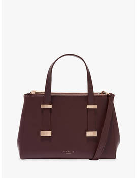 Ted Baker Alyssaa Small Leather Tote Bag, Dark Purple by Ted Baker