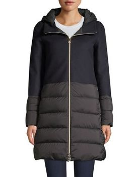 Nuage Wool Blend Puff Down Jacket by Herno