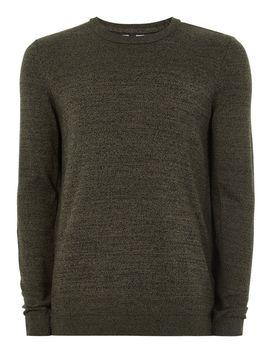 Khaki And Black Twist Sweater by Topman