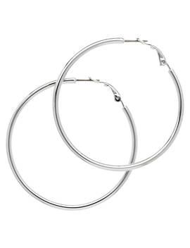 Melissa Odabash Medium Hoop Earrings, Silver by Melissa Odabash