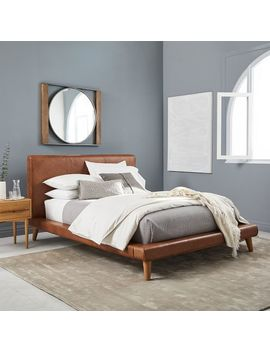 Mod Leather Platform Bed by West Elm