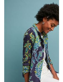 Printed Chenille Jacket by Moth