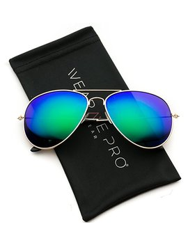 Wear Me Pro   Polarized Metal Frame Pilot Style Aviator Sunglasses by Wear Me Pro