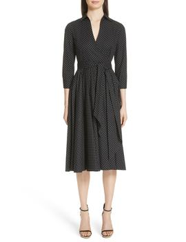 Polka Dot Wrap Front Dance Dress by Michael Kors