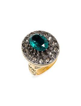 Swarovski Crystal Cocktail Ring by Alexander Mcqueen