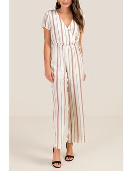 Brayleigh Striped Jumpsuit by Francesca's