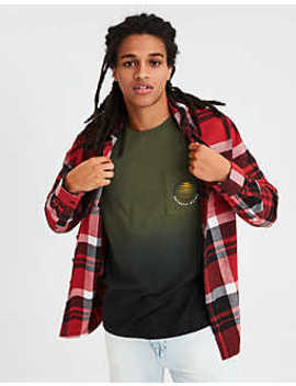 Ae Flannel Hooded Shirt by American Eagle Outfitters