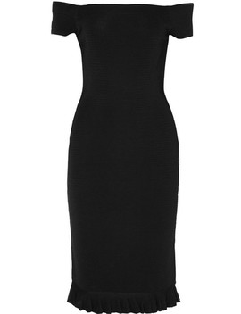 Off The Shoulder Ribbed Stretch Knit Dress by Michael Michael Kors