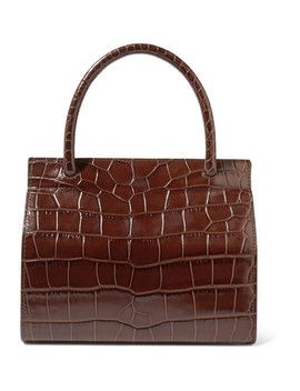 Val Croc Effect Leather Tote by By Far