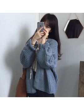 Astarte   Rib Knit Thick Cardigan by Astarte