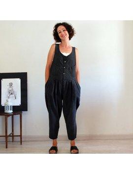 80s Denim Overalls, Jeans Overalls, Distressed Black Denim Jumpsuit, Oversized Overalls, Loose Jumpsuit, Bootcut Pant, Vintage Dungarees by Etsy