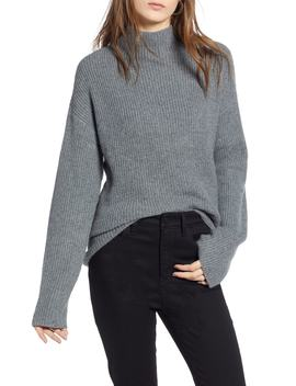 Ribbed Funnel Neck Sweater by Treasure & Bond