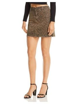 Sierra Leopard Print Denim Skirt   100 Percents Exclusive by Pistola