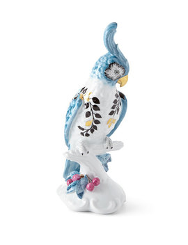Porcelain Cockatoo Candleholder   Left Facing by Christian Lacroix