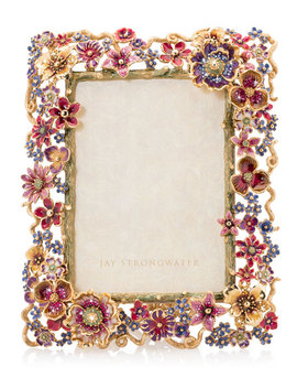 """Floral Cluster Picture Frame, 5"""" X 7"""" by Jay Strongwater"""