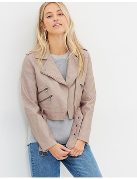 Talia Cropped Biker Jacket by All About Eve