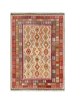 Handmade Herat Oriental Afghan Tribal Wool Kilim by Herat Oriental