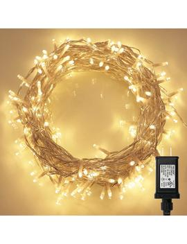 200 Led Indoor String Light With Remote And Timer On 69ft Clear String (8 Modes, Dimmable, Low Voltage Plug, Warm White) by Koopower