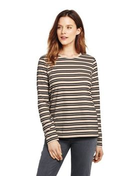 Women's Petite Supima Crew by Lands' End