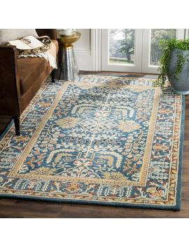 Safavieh Antiquity Traditional Handmade Dark Blue/ Multi Wool Rug by Safavieh