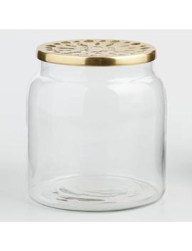 Clear Vase With Brass Lid by World Market