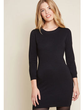 Living On A Layer Sweater Dress In Black by Jack By Bb Dakota