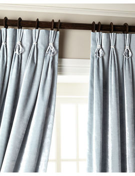 """132""""L Velvet Curtain With Asfour Crystals by 6009 Parker"""