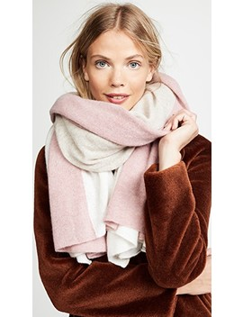 Cashmere Instarsia Travel Wrap Scarf by White + Warren