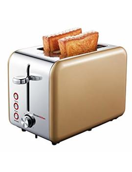 Bonsenkitchen 2 Slice Wide Slot Toaster With Chrome Stainless Steel Housing, Defrost/Bagel/Cancel And Bread Jam Proof Function, 7 Browning Settings, Gold (Tr8741) by Bonsenkitchen